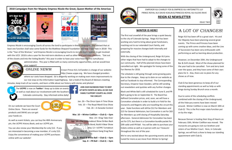 thumbnail of Reign 42 Newsletter Vol 2