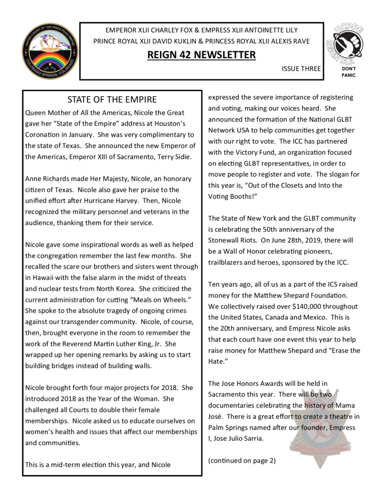 thumbnail of Reign 42 Newsletter issue 3