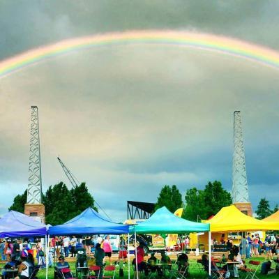 rainbow taken by matt baty over america the beautiful park